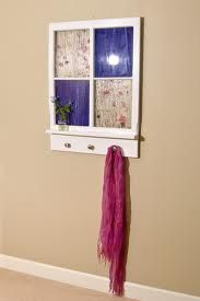 Coat rack idea window frame projects - Google Search