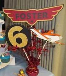 Planes Fire & Rescue Birthday Centerpiece