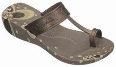 Ipanema dragonfly brown wedge flip flop