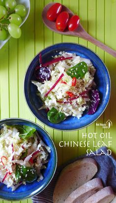 A simple Chinese leaf salad, crispy, garlicky, spicy and extremely healthy. This recipe shows you how to make a flavour-packed hot oil dressing. Healthy Asian Recipes, Vegetarian Recipes, Asian Foods, Best Chinese Dishes, Chinese Recipes, Chinese Food, The Fresh, Soul Food, Easy Meals