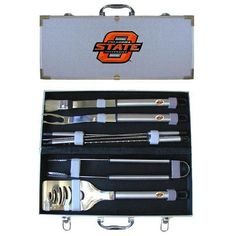 Oklahoma State Cowboys NCAA 8pc BBQ Tools Set