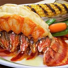 Caribbean Baked Lobster Tails