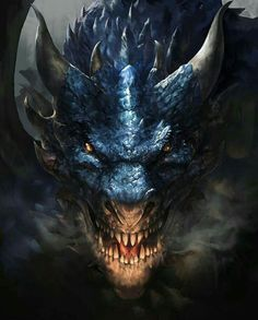 Dark Fantasy Art, Fantasy Artwork, Fantasy Kunst, Fantasy Love, Daily Fantasy, Tiamat Dragon, Photo Dragon, Dragon Face, Dragon Head