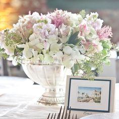 Pink and White Reception Centerpieces