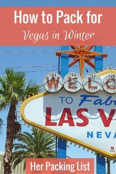 Despite its reputation for being a hot city, Las Vegas does get cold in the winter. Here's what to put on your packing list for Las Vegas in winter.