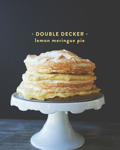 DOUBLE DECKER LEMON MERINGUE PIE // The Kitchy Kitchen