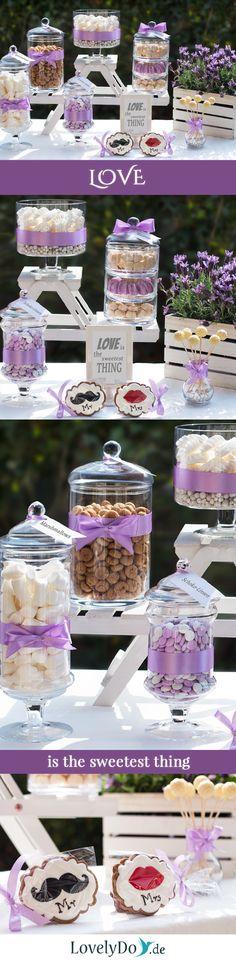 Unsere erste Hochzeits-Candy Bar dieses Jahr, und das im Garten!    #CandyBar…