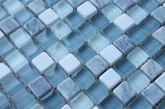 Bliss Waterfall Stone and Glass Square Mosaic Tiles