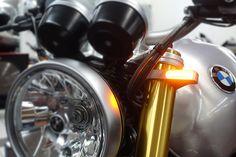 56 mm-54 mm noir Heinzbikes C-Line DEL Fourche Clignotant Classic