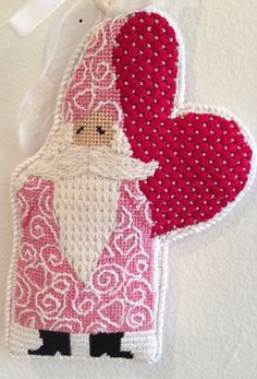 THE I LOVE YOU SANTA GUY HANDPAINTED NEEDLEPOINT BY CURTIS BOEHRINGER ONLY AT FLEUR DE PARIS