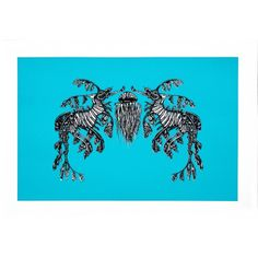 Seahorses Lily Mixe Two colour screenprint on smooth fine art paper 250gm 50 x 70 cm Edition of 20  #limitededition #art #prints #lilymixe #fineartprints #ocean #wildlife #interior #decor