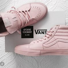 ISO !! Pink sk8 hi vans If anyone knows someone who is selling please let me know! Vans Shoes Sneakers