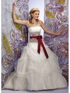 $217.50Satin Organza Ball Gown Dress With Luxurious Beaded #Girdle #And #Sash