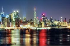 NYC viewed from Union Hill New Jersey in the very early morning hours prior to sunrise by mudpig