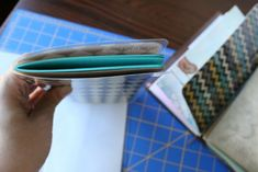 DIY Dashboard for your travelers notebook - Fold in half and place around notebook