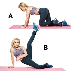 Knee pull & kick: Follow these five moves to get your legs slim, toned, and super sexy.