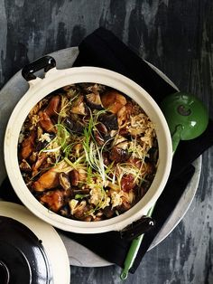 Neil Perry's clay-pot chicken rice. Photo: William Meppem