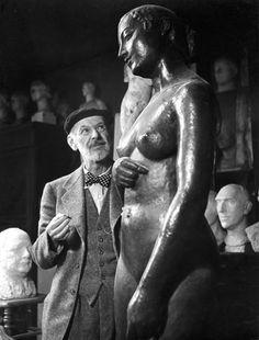 Charles Despiau in his Studio (Atelier) Photo by Robert Doisneau