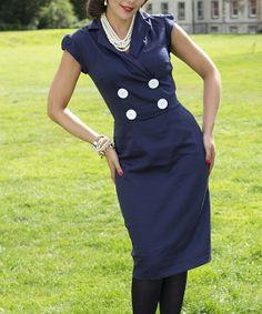 Navy Blue Thistle Dress.