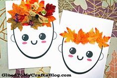 herbst fensterdeko kinder Paper and decorative leaves come together for this fun Mixed Media Leaf Hair and Crown kid craft idea! Fall Crafts For Kids, Crafts To Do, Diy For Kids, Kids Crafts, Craft Projects, Projects To Try, Arts And Crafts, Craft Ideas, Fun Activities For Kids