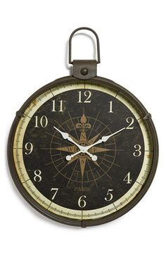 CREATIVE+CO-OP+Metal+Wall+Clock+available+at+#Nordstrom