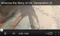 VIDEO: America the Story of Us: Declaration of Independence -- This video considers the wording of the Declaration of Independence and its indictment of King George III. It's paired with three classroom activities for grades History Classroom, Teaching History, History Education, Teaching Resources, Declaration Of Independence Quotes, Teaching Government, Teaching 5th Grade, 5th Grade Social Studies, First Year Teachers