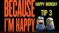Happy Monday Tip 3 - a how to be happy question Im Happy, Happy Monday, Exploring, Happiness, Wisdom, This Or That Questions, Tips, Youtube, I Am Happy