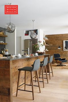 Unanswered Problems With Lincoln Square Kitchen Renovation Disclosed 24 - gameofthron Rustic Kitchen Island, Stools For Kitchen Island, Farmhouse Style Kitchen, Wooden Kitchen Stools, Earthy Kitchen, Walnut Kitchen, Warm Kitchen, Modern Kitchen Tables, Modern Kitchen Design