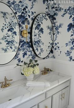 "Today we are excited to share with you our upstairs bathroom makeover which we generally refer to as ""the girls' bathroom"". Along with f..."