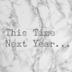 This Time Next Year… – As seen on Jean