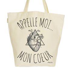 New! Grand Sac Cabas F... http://www.artecita-eco-fashion.com/products/grand-sac-cabas-fourre-tout-toile-imprimee-bio-tote-bag-xl-graphic-organic-appelle-moi-mon-coeur?utm_campaign=social_autopilot&utm_source=pin&utm_medium=pin #ArteCita #ECOFashion #Bio #GreenIsTheNewBlack #EthicalFashion