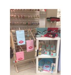 Tala Utility shop display in Ulster Stores - such beautiful tea towels! <3 gorgeous colours