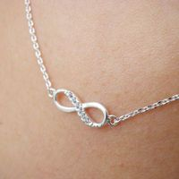 Infinity Necklace in Silver tiny eternity friendship promise charm Necklace by Sweet Sparkles Heaven