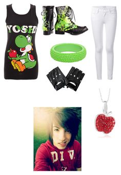 """""""Meeting Jordan Sweeto"""" by bvbfangirl085 on Polyvore featuring Nintendo, Frame Denim and Abbey Dawn"""