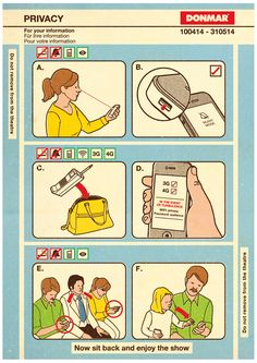 #tobatron instructional graphics instruction user manual retro illustration airplane safety card parody www.tobatron.com