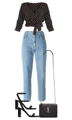"""Untitled #4453"" by theeuropeancloset ❤ liked on Polyvore featuring Moschino and Yves Saint Laurent"
