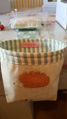 Check out this item in my Etsy shop https://www.etsy.com/uk/listing/472370754/thread-catcher-with-pin-cushion-shabby
