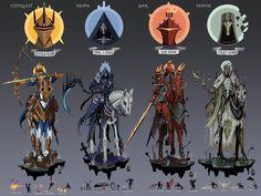 Fantasy Character Design, Character Design Inspiration, Character Concept, Character Art, Monster Concept Art, Monster Art, Les Quatre Cavaliers, Htf Anime, Apocalypse Art