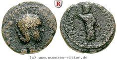 RITTER Judaea, Caesarea Maritima, Herennia Etruscilla, Serapis #coins