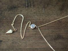 Lariat Layering Necklace by Saressa Designs