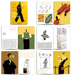 """Craig Frazier's """"The Illustrated Voice"""" - a fascinating study in the creative editorial process. Lots of fun sketchbook to final pieces with interesting write-ups on what he was thinking. Also just love his conceptual style - he always comes up with clever (and elegant) solutions."""