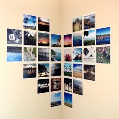 Simple, easy, orderly photo display to brighten up your dorm room! 21 Dorm Room DIY Projects to Customize Your Space Diy Wand, Photowall Ideas, Decoration Photo, Decoration Pictures, Wall Decor Pictures, Wall Photos, Photo Deco, Ideias Diy, Diy Wall Art