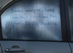 """""""Saving money on a hotel room this Valentine's Day. That's Thrifty thinking."""""""