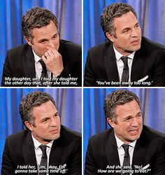 This is amazing. I don't much care for Hulk but Ruffalo is wonderful