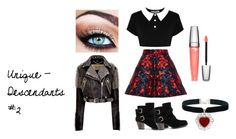 """""""Unique - Descendants #2"""" by mailynng ❤ liked on Polyvore featuring Delpozo, Killstar, Lancôme and Burberry"""