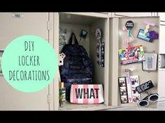 DIY locker organization and decoration Cute Locker Ideas, Diy Locker, Locker Stuff, Locker Crafts, School Locker Decorations, Middle School Lockers, School Locker Organization, Locker Designs, Diy Back To School