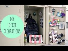 DIY Locker Decorations must try the nail polish on clothespins.