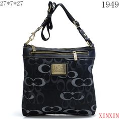 277731cb344 Coach Legacy Swingpack In Signature Large Black Crossbody Bags AVL   Cheap  Coach Outlet Online - Genuine Coach Handbags Sale