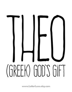Theo Name Meaning Art - Printable Baby Shower Gift - Nursery Printable Art - Dig. Theo Name Meaning Art - Printable Baby Shower Gift - Nursery Printable Art - Digital Print - Nursery T Unisex Baby Names, Cute Baby Names, Unusual Baby Names, Unique Names, Baby Names And Meanings, Names With Meaning, Baby Name Meaning, Name Meanings, Theo Baby Name