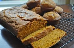 Not Your Everyday Pumpkin Bread (but sub fresh pumpkin for canned pumpkin, of course! Sweets Recipes, Bread Recipes, Cooking Recipes, Desserts, Pumpkin Bread, Pumpkin Pumpkin, Canned Pumpkin, Tummy Yummy, Sweet Bread
